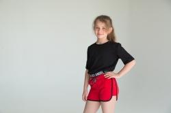 Шорти трикотажні для дівчинки, Crawe, червоні, SmileTime