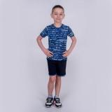 Футболка дитяча для хлопчика, Fun, синя, SmileTime