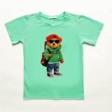 Футболка для хлопчика, дитяча, м'ятна, Summer Bear, SmileTime
