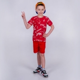 Футболка дитяча для хлопчика, Fun, червона, SmileTime