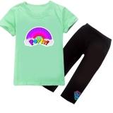 Комплект детский, для девочки, футболка и капри AntistreSS, мятный