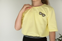 Кроп топ для дівчинки, Choice, лимонний, SmileTime