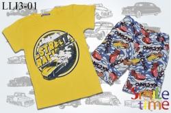 Костюм SmileTime футболка и шорты Street Racing, желтый