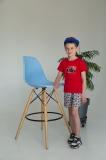 Костюм детский для мальчика, футболка и шорты, Power, красный SmileTime