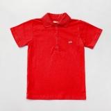 Тенниска поло с коротким рукавом детская для мальчика SmileTme Classic, красная