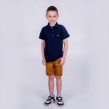Тенниска поло с коротким рукавом  для мальчика SmileTme Classic, темно-синяя