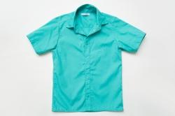 Рубашка SmileTime для мальчика с коротким рукавом на кнопках, мятная