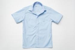 Рубашка SmileTime для мальчика с коротким рукавом на кнопках Кант, голубая