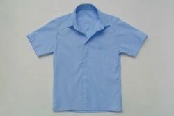 Рубашка SmileTime для мальчика с коротким рукавом на кнопках, синяя
