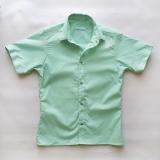 Рубашка детская с коротким рукавом, для мальчика, мятная SmileTime Touch