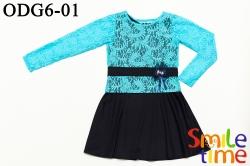 Платье SmileTime для девочки с блузкой Stacy, синие