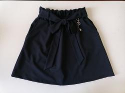 Юбка для девочки с карманами, школьная, темно синяя Nice, SmileTime