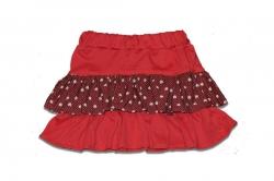 Детская юбка, трикотажная, красная SmileTime LoveBird