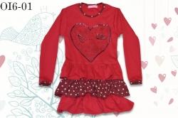 Платье SmileTime с рюшами Love Bird, красное