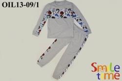 Пижама SmileTime для мальчика Спорт, светло-серая (ПОДРОСТОК)