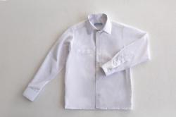 Рубашка SmileTime для мальчика с длинным рукавом детская на кнопках, белая
