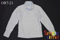 Рубашка SmileTime на кнопках с длинным рукавом Полоса мелкая, синяя