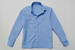 Рубашка SmileTime для мальчика с длинным рукавом на кнопках, синяя