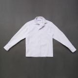 Рубашка SmileTime для мальчика с длинным рукавом детская на кнопках Points, белая
