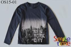 Реглан SmileTime для мальчика New York, темно-серый (ПОДРОСТОК)