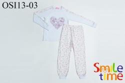 Пижамы SmileTime для девочки Птички, белая