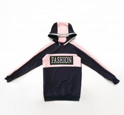 Худи SmileTime для девочки Fashion, синяя с розовым