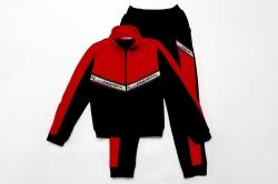 Костюм спортивный SmileTime для девочки Fashion, красный с черным