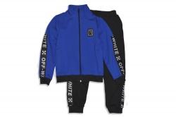 Костюм спортивный SmileTime для мальчика Off W, синий с черным