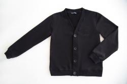 Пуловер SmileTime классический на пуговицах, черный