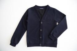 Пуловер SmileTime классический на пуговицах, темно-синий