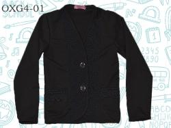 Пуловер SmileTime для девочки на пуговицах, черный