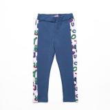 Лосины SmileTime детские для девочки Cool Letters, синие