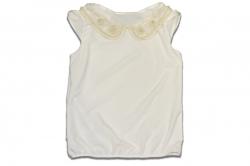 Блузка SmileTime для девочки с коротким рукавом Julia, молочная