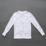 Блузка-водолазка SmileTime гипюровая для девочки Guipure, белый