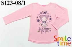 Реглан SmileTime для девочки CosmoGirl,светло-розовый