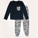 Пижама SmileTime для мальчика Sneakers, синяя с серым