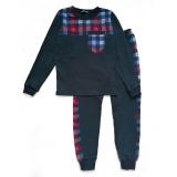 Пижама SmileTime для мальчика Pocket, темно-синяя