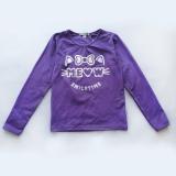 Реглан (лонгслив) с длинным рукавом, для девочки, фиолетовый, Meow Smile, SmileTime