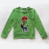Лонгслів (футболка з довгим рукавом) для хлопчика, зелений, Autumn Bear SmileTime