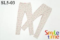 Лосины SmileTime для девочки Flamingo с флоком, бежевые