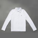 Поло с длинным рукавом для мальчика SmileTme Classic, белое
