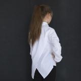 Блузка рубашка для девочки подростка, с длинным рукавом, белая, SmileTime Crazy