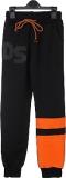 Штани спортивні для хлопчика підлітка SmileTime DS, чорні з помаранчевим