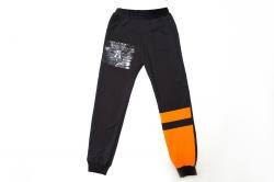 Штаны спортивные SmileTime для мальчика Unlimeted, черный с оранжевым