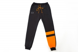 Штаны спортивные SmileTime для мальчика White, черный с оранжевым