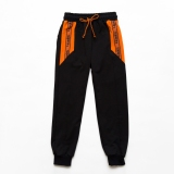 Штаны спортивные SmileTime для мальчика Super Day, черный с оранжевым
