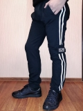 Штани спортивні для підлітка, Keep Calm, темно-сині, SmileTime