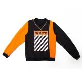 Свитшот SmileTime для мальчика White, черный с оранжевым