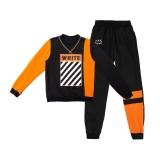 Комплект ST для мальчика Write, черный с оранжевым