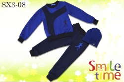 Костюм SmileTime для мальчика Athlete с шапкой, синий с темно-синим